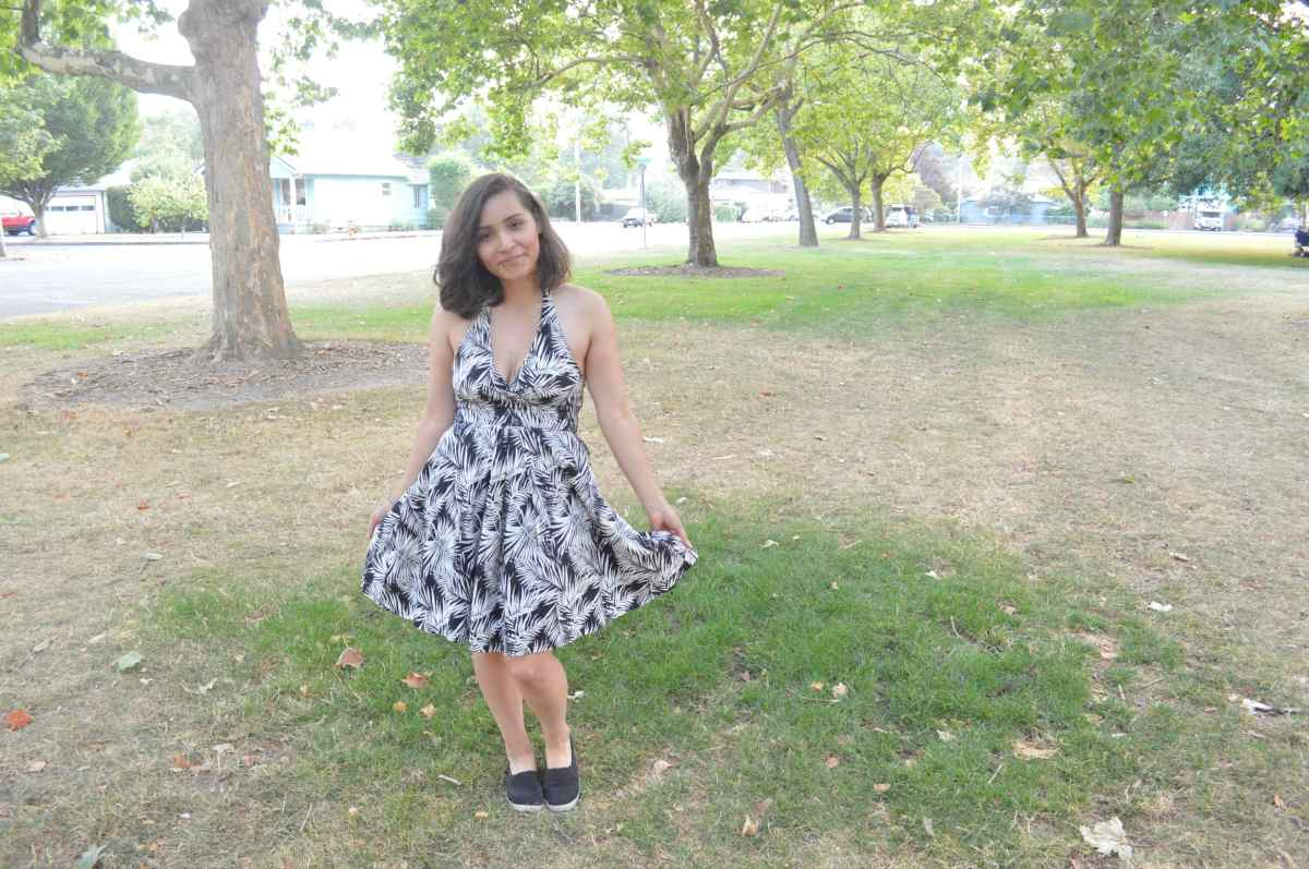 Fashion Fridays: Black Leaf Print Summer Dress